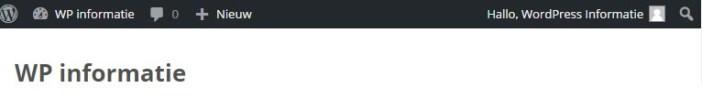 Admin bar uitzetten in WordPress
