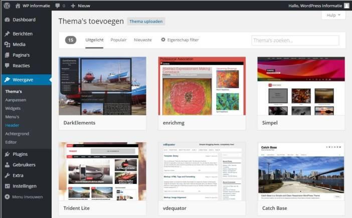 Handleiding WordPress thema installeren