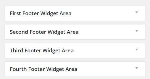 Footer widget area