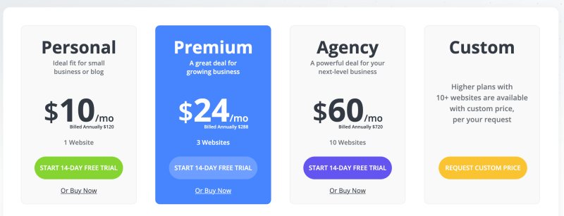 10Web hosting pricing plans coupon