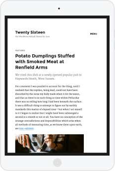 2016 WordPress Theme ipad portrait