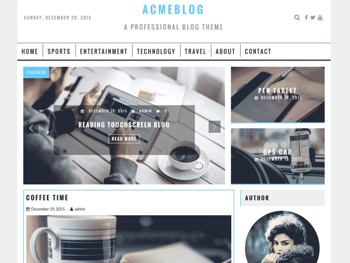 AcmeBlog By Acme Themes WordPress Theme