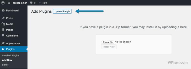 Add Plugin Upload New Envato Market Plugin