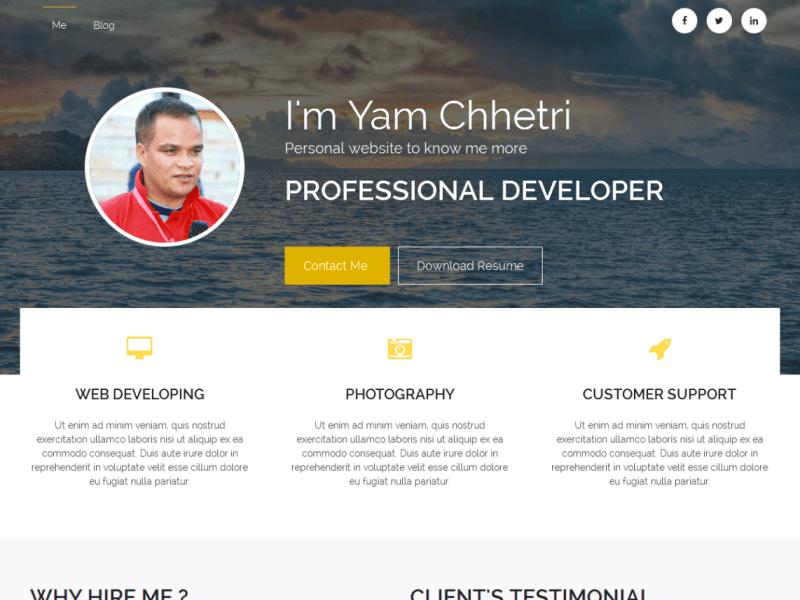 Biography By Yam Chhetri WordPress Theme