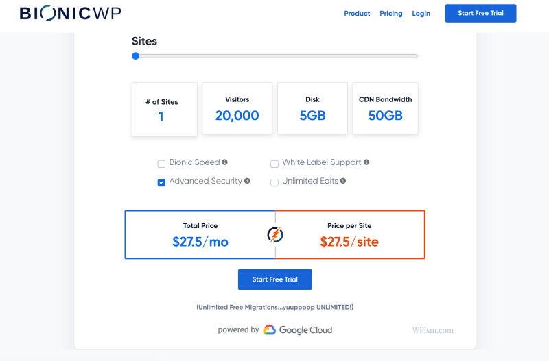 BionicWP Pricing Review Single Site