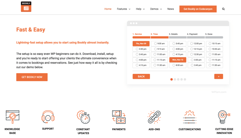 Bookly for appointment scheduling WordPress Booking plugin