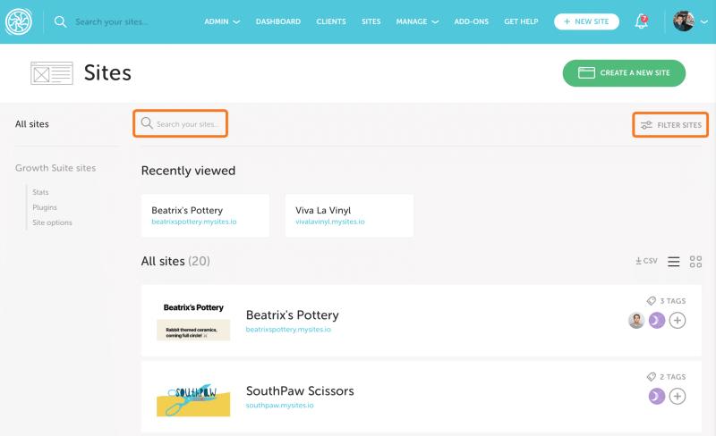 Bulk WordPress Sites management Flywheel Growth Suite