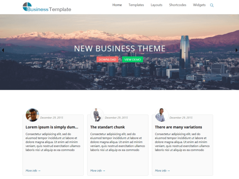 Business World By webdorado WordPress Theme
