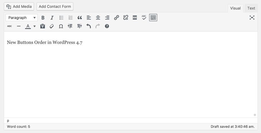 Button Order WordPress 4.7