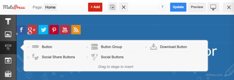 Buttons Modules Page Builder MotoPress Plugin