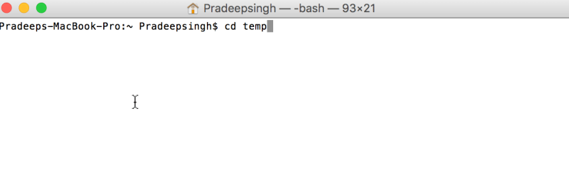 CD to navigate in Command line