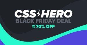 CSS Hero Black Friday Deal discount