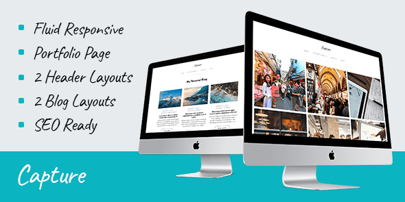 Capture Premium Portfolio WordPress Theme Coupon