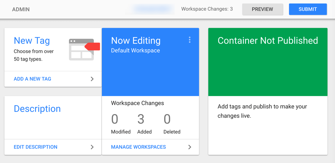 Click Submit to Save Changes Tag Manager