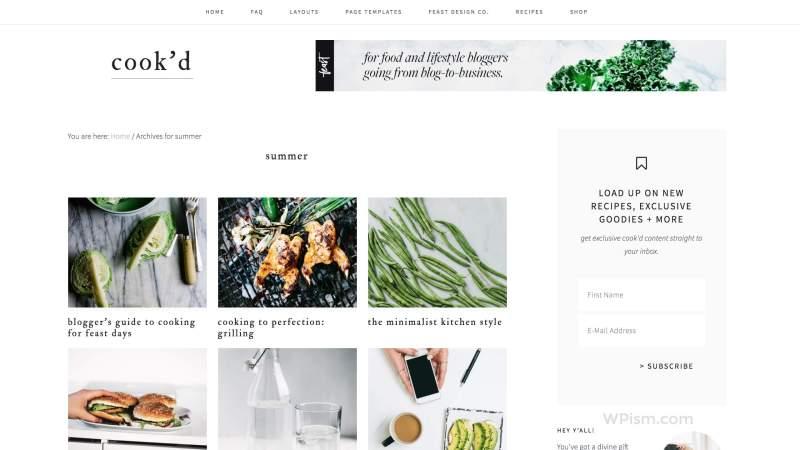 Cookd Pro WordPress Theme