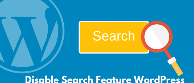 Disable WordPress Search
