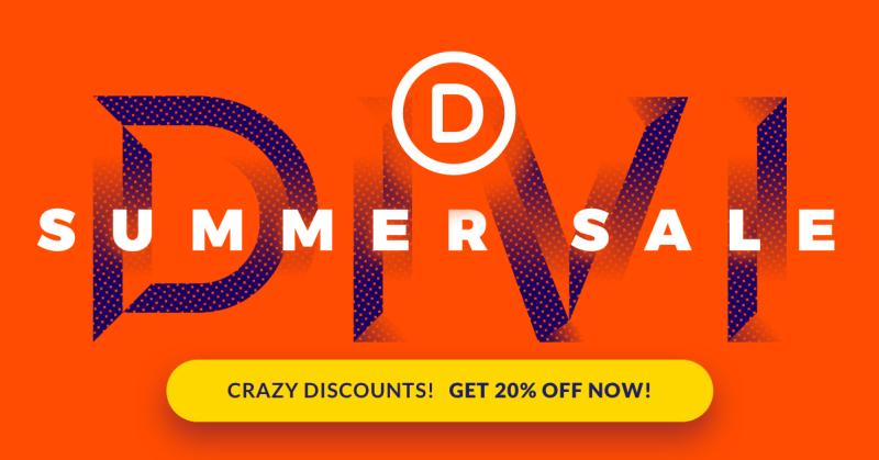 Divi Summer Sale Elegant Themes Discount
