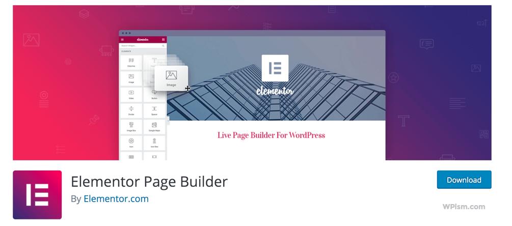 Elementor Page Builder Updated WordPress Plugin