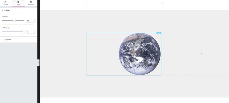 Elementor WordPress heading widget and a text widget
