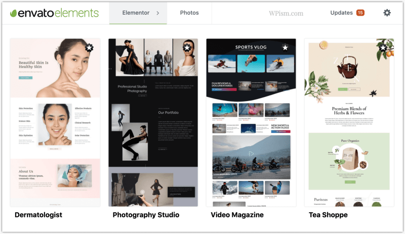 Envato Elements Premium Template Kits