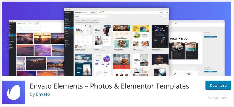 Envato Elements WordPress Plugin for Elementor Templates