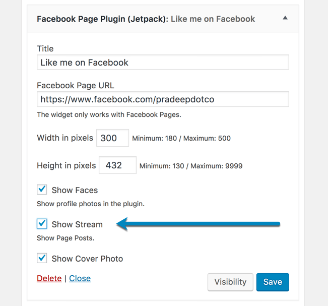 Facebook Page Plugin show stream for Live Videos