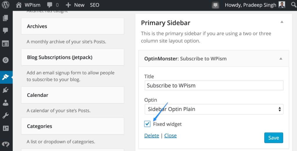 How to Add a Floating Sticky Sidebar Widget in WordPress – WPism