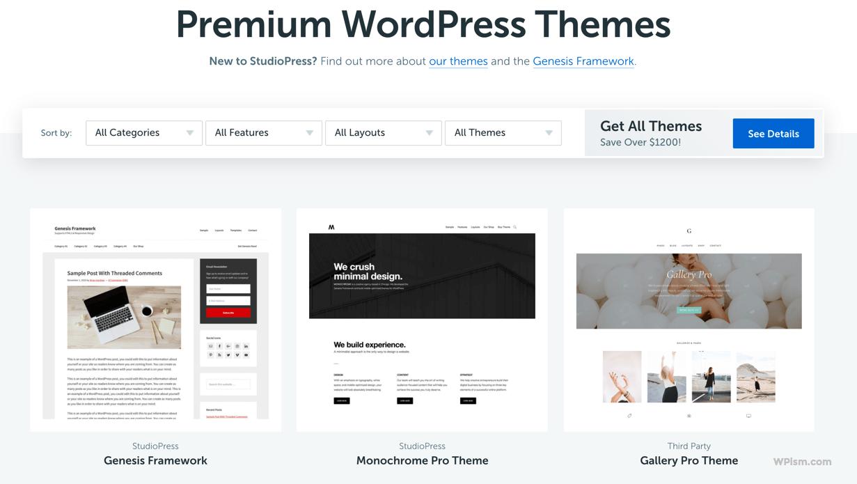 Genesis Studiopress Premium Themes for Blog