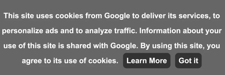Google Adsense Policy Cookie