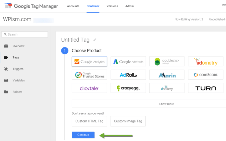 Google Analytics with Google Tag Manager