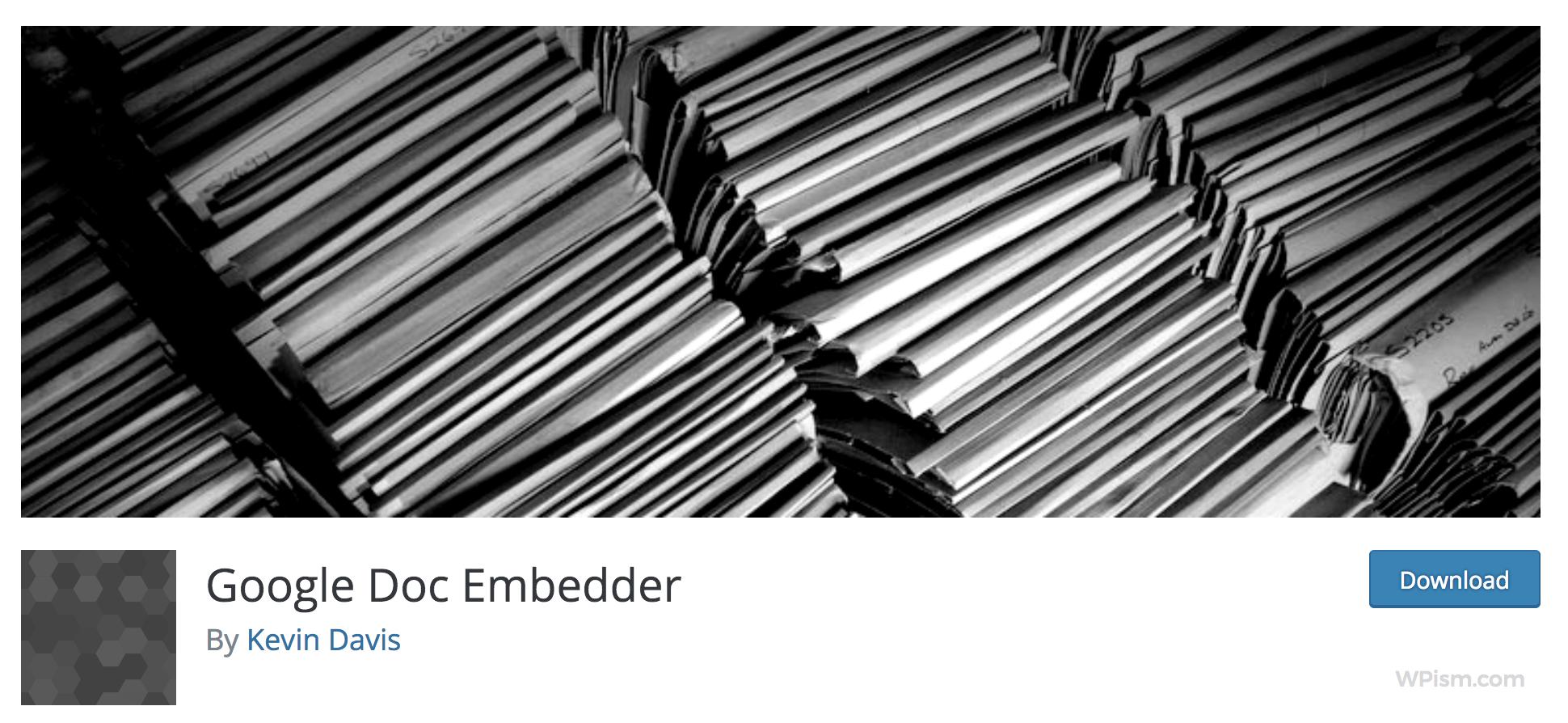 Google Doc Embedder Plugin WordPress