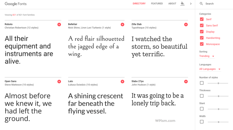 Google Fonts New Version