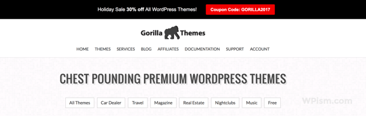 Gorilla Themes 2017 Sale