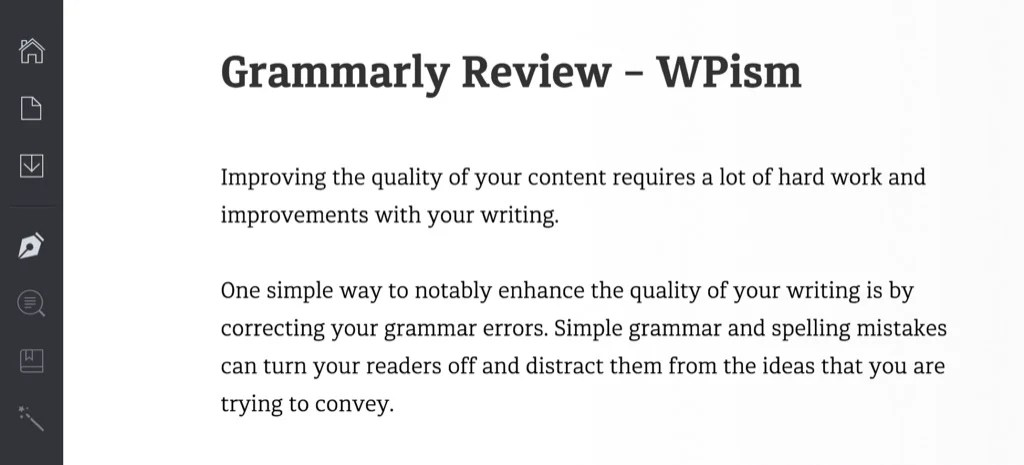 Grammarly Review Editor WPism