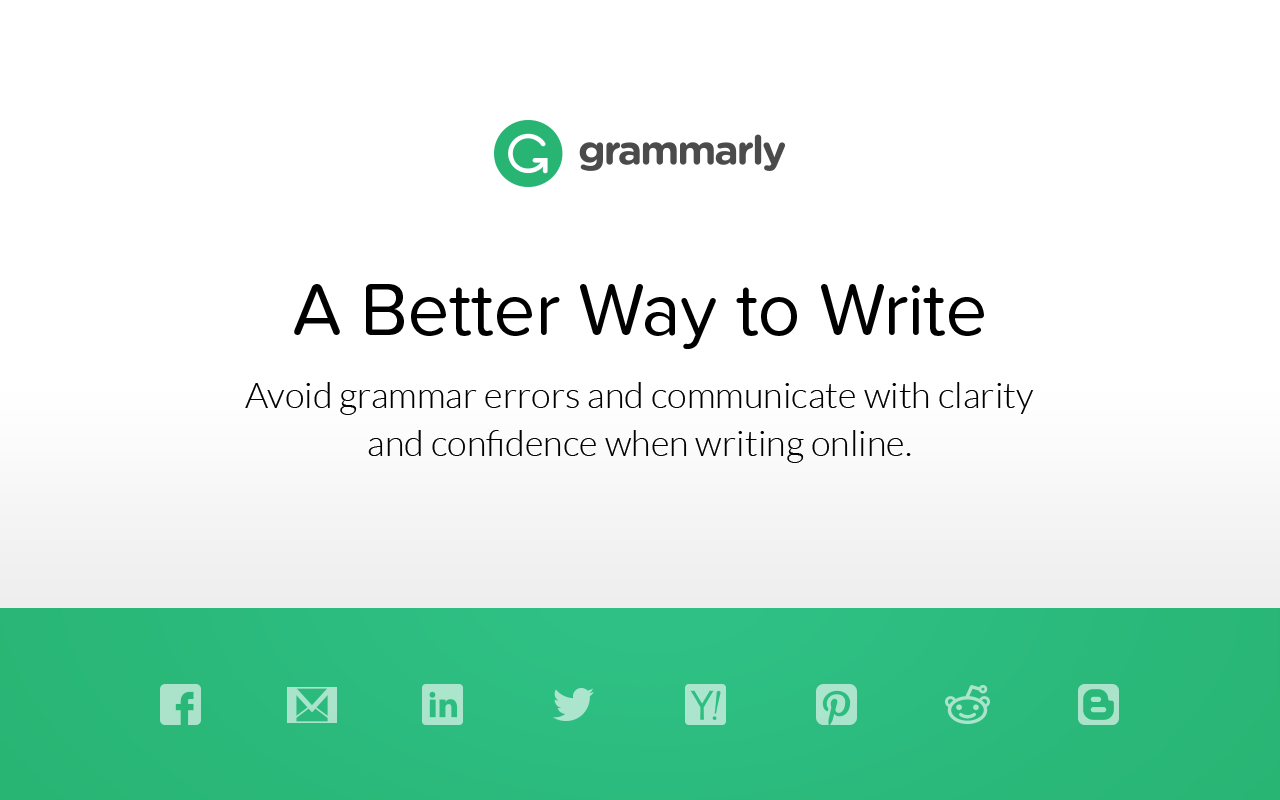 Grammarly Works Anywhere on Web