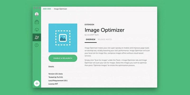 Image Optimiser Local WordPress development
