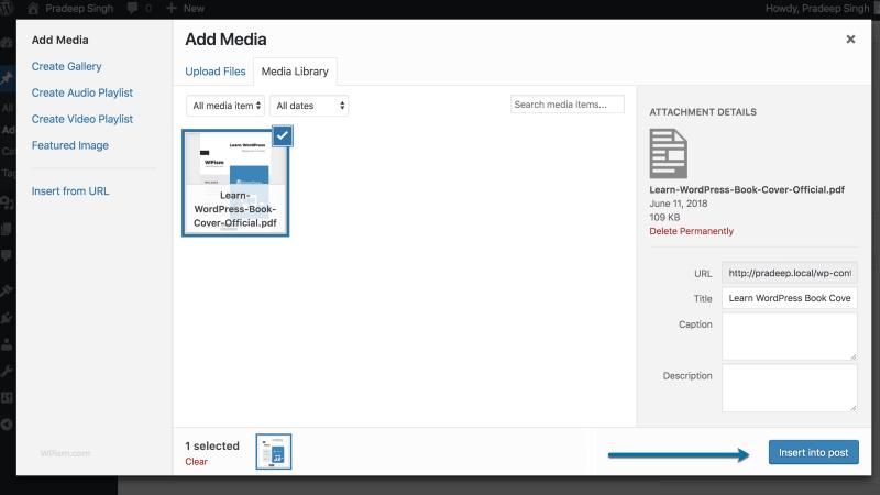 Insert into Post PDF File