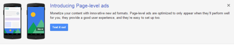 Introducing Page Level Ads by Google Adsense