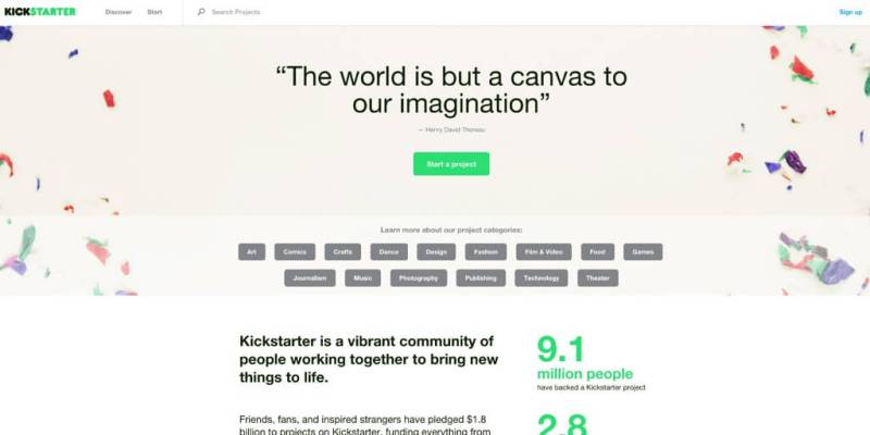 Kickstarter WordPress Project