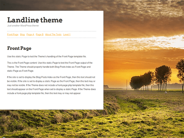 Landline By Design 311 WordPress Medium theme