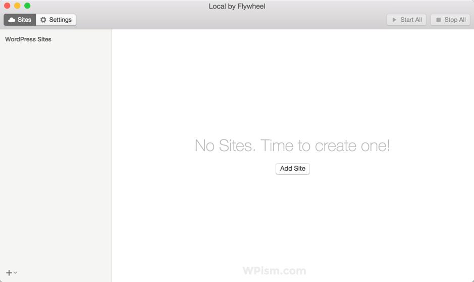 Local by Flywheel WordPress Tool Create First Site