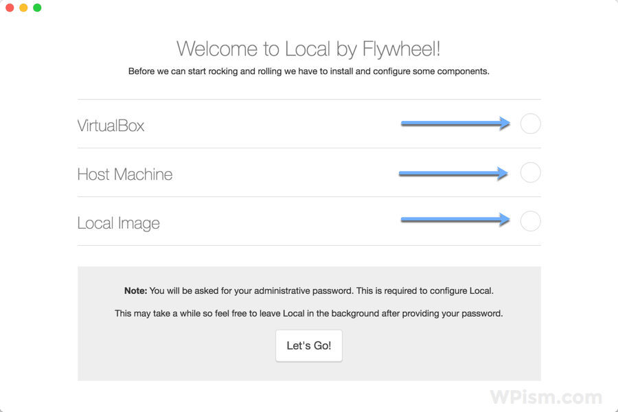 Local by Flywheel WordPress Tool configure components