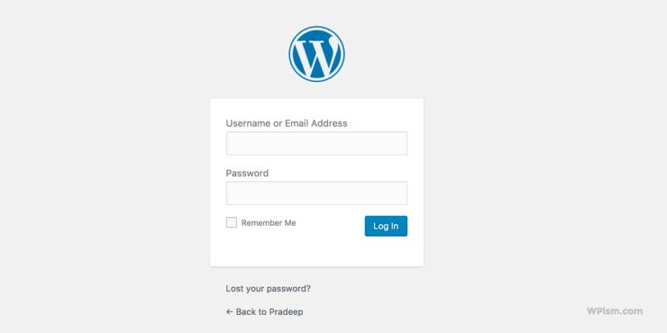 Login to your New Blog WordPress Login Page