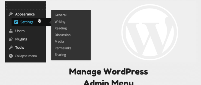 Manage Admin Menu Plugin WordPress