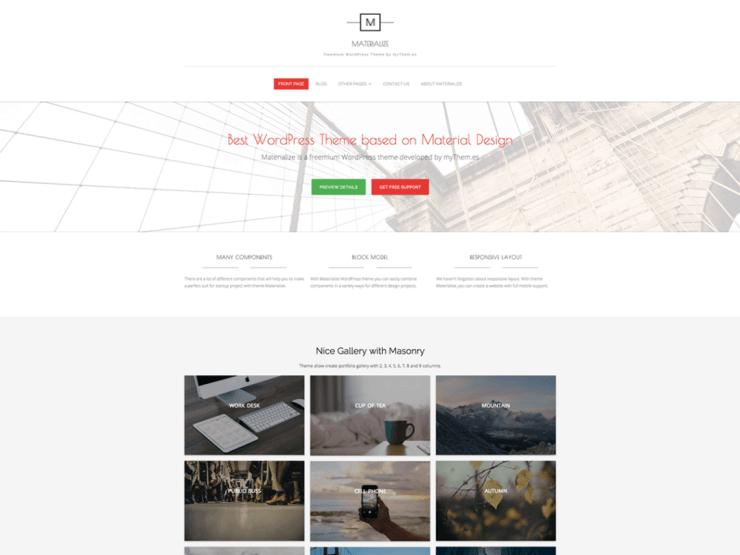 Materialize By mythemes WordPress Theme