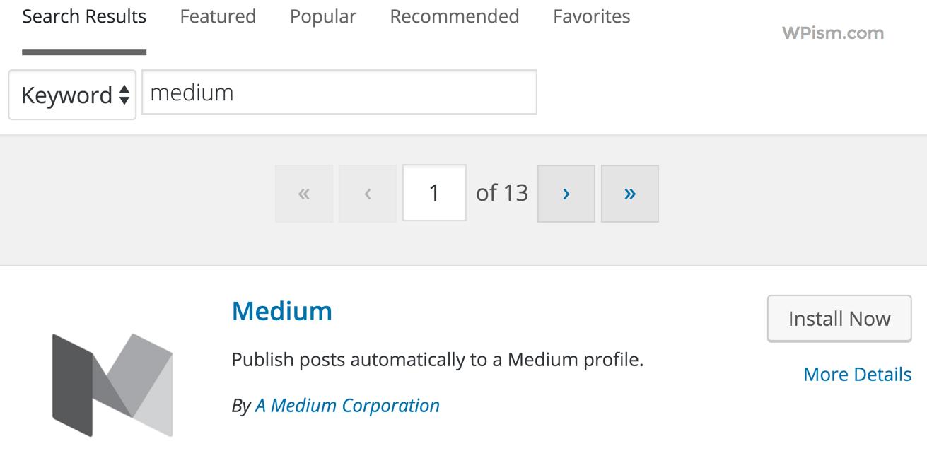 Medium WordPresss Plugin Install