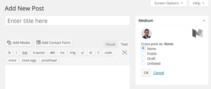 Medium options for WordPress Post