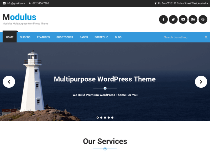 Modulus By Venkat Raj WordPress THeme