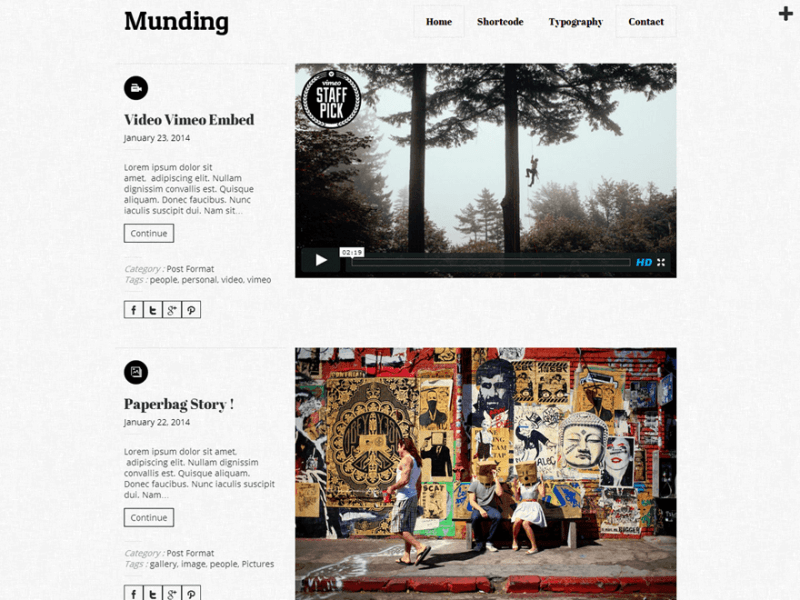 Munding WordPress Theme Lite By Themes Awesome