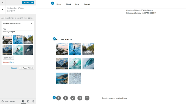 New gallery widget WordPress